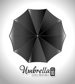Umbrella design over white background vector illustration