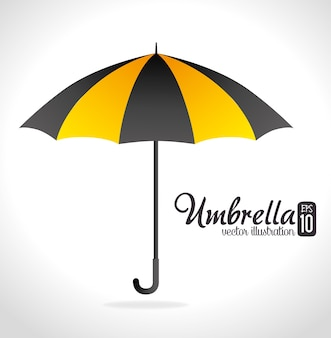 Umbrella design over white background vector illustration