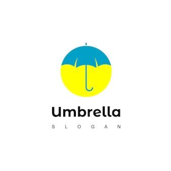 Зонтик дизайн логотипа вдохновение