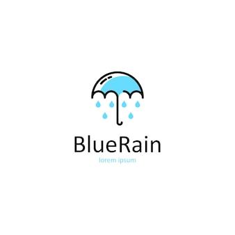 傘のロゴ Premiumベクター