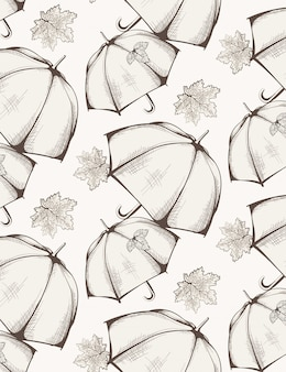 Umbrella pattern autumn season background