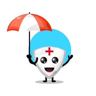 Umbrella shield cute character mascot