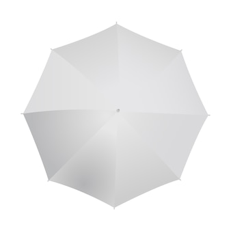 Umbrella top view isolated on white.