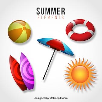 Umbrella with summer elements