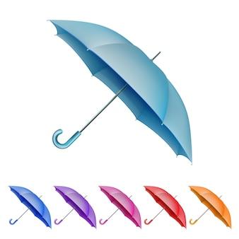 Umbrellas color set.