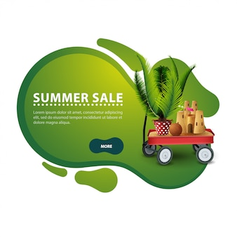 Ummer sale, modern discount banner in the form of smooth lines for your business