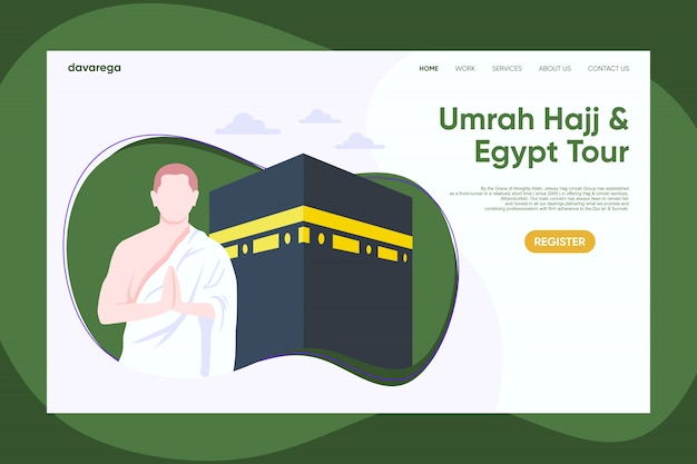 Umroh hajj landing page design template