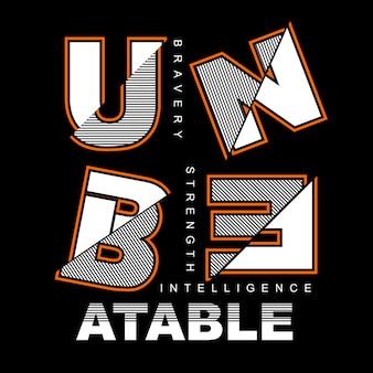 Unbeatable graphic typography