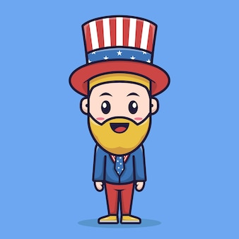 Uncle sam character design