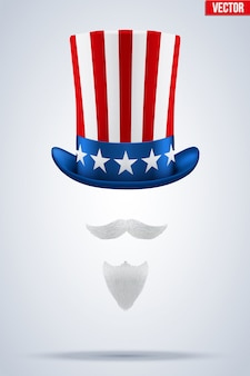 Uncle sam hat.  illustration.