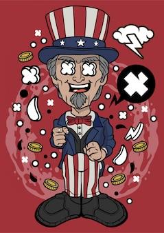 Uncle sam illustration