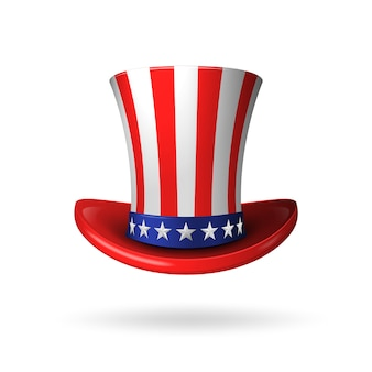 Uncle sam's realistic american hat.