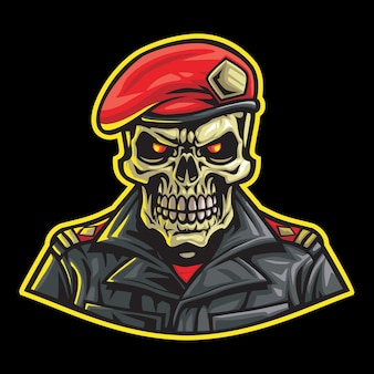 Undead soldier esport logo illustration