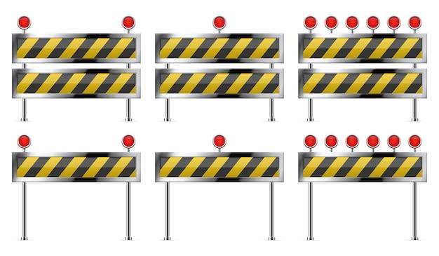 Строящийся барьер для дороги