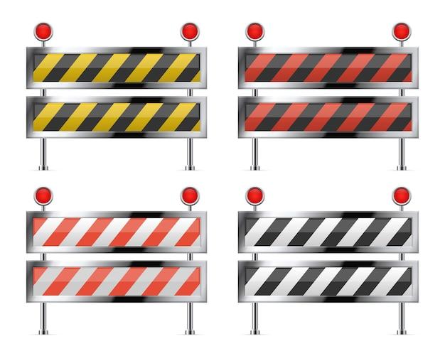 道路の建設中の障壁