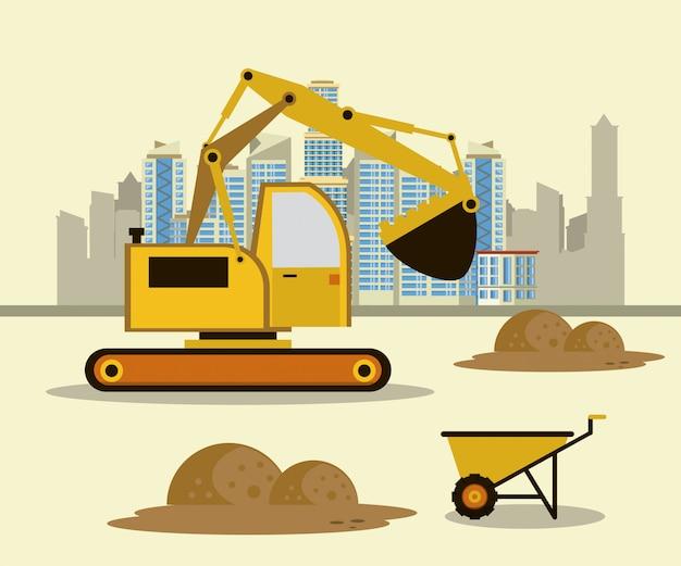 Под строительство зданий и машин