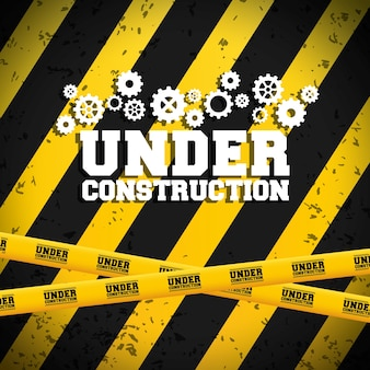 Under construction concept with icon design