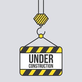 Под строительство вывеска подвесной кран