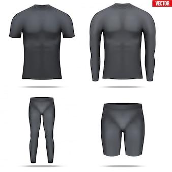 サーモ生地の長袖のアンダーレイヤーコンプレッションシャツ