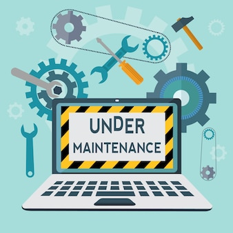 under maintenance  background design