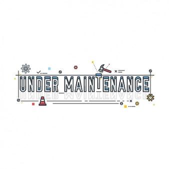 under maintenance  design