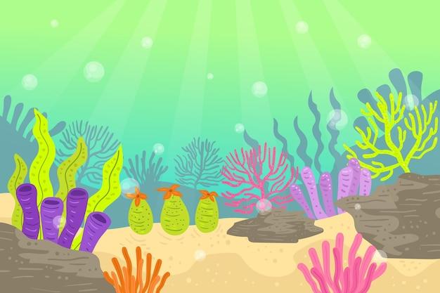 Под морем фон для видеоконференции
