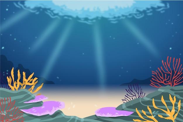 Под водой фон для видеоконференцсвязи
