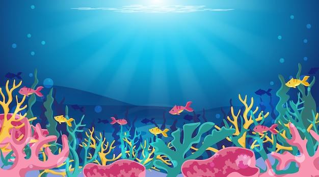海中-ビデオ会議の背景