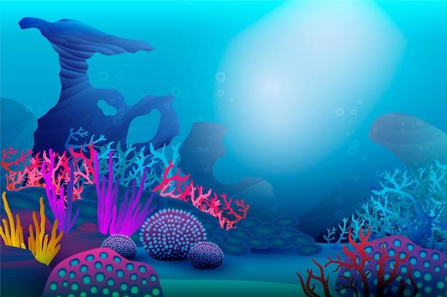 Под морским фоном