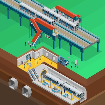 Underground isometric illustration