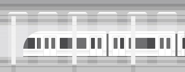 Underground metro train
