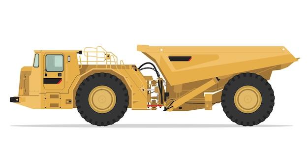 地下採掘トラックの側面図