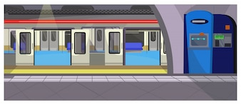 Underground stop illustration