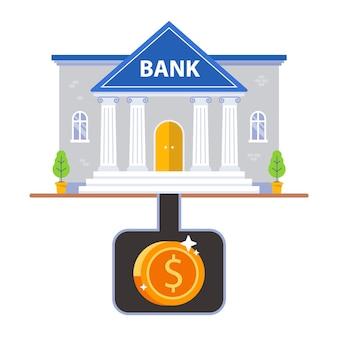 Underground storage of money under the bank