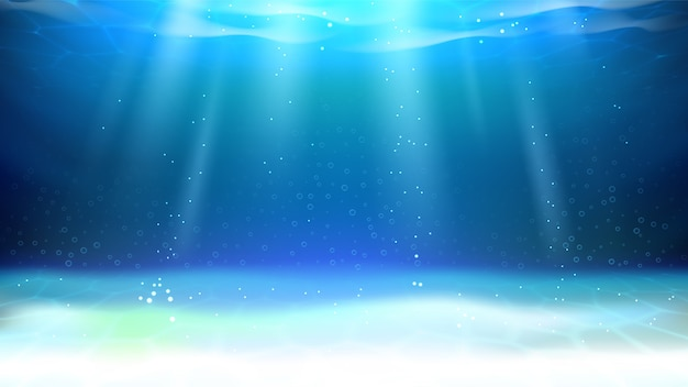 Underwater aquarium sunlight and bubbles