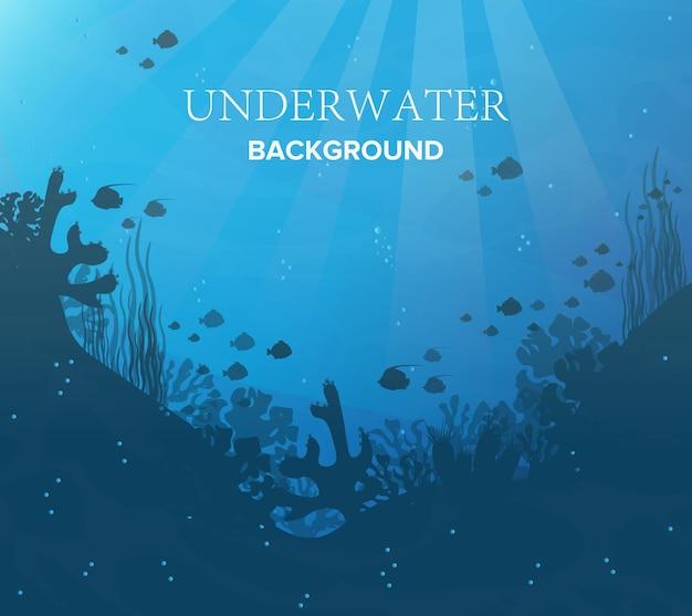 水中の背景、海洋生息地、信じられないほどの種。