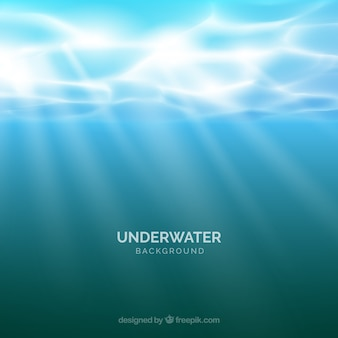 Underwater background in realistic style