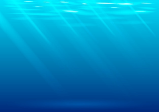 Underwater background in vector graphics