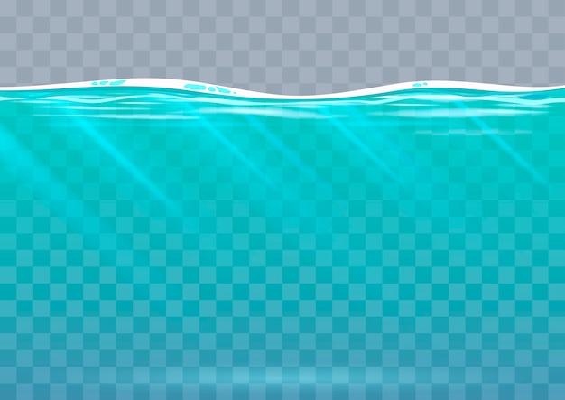 Underwater background in vector graphics