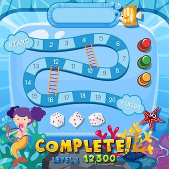 Underwater board game template