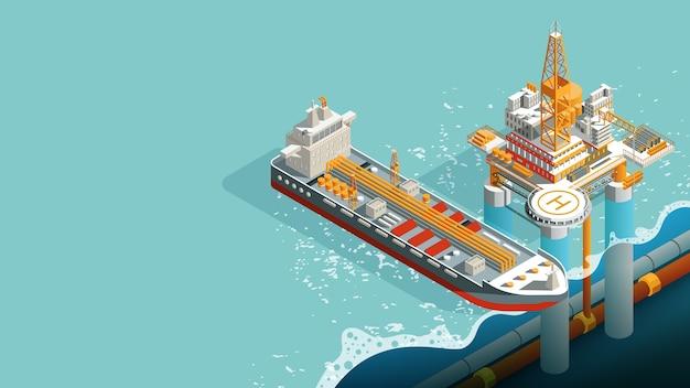 수중 시추 장비 및 정박 된 원유 수송 유조선