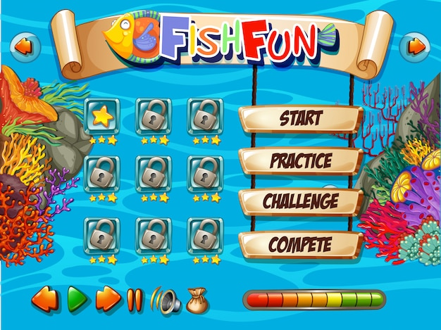 Underwater fish game template