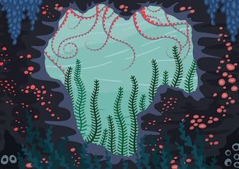 Underwater nature background