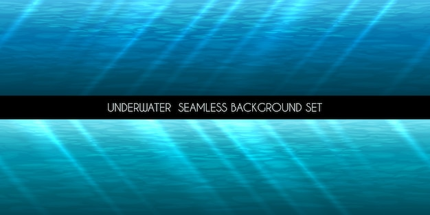 Underwater seamless background. water marine blue, deep aquatic,