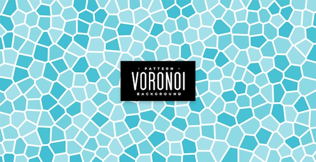 Underwater tiles or bathroom wall blue voronoi pattern background