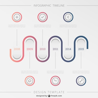 Ondulato linea infografica