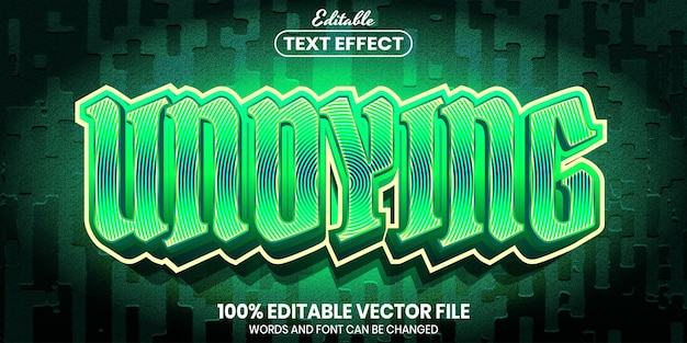 Undying text, font style editable text effect