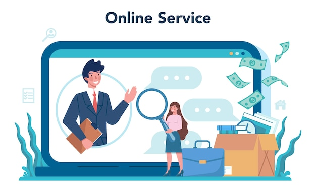 Unemployed online service or platform