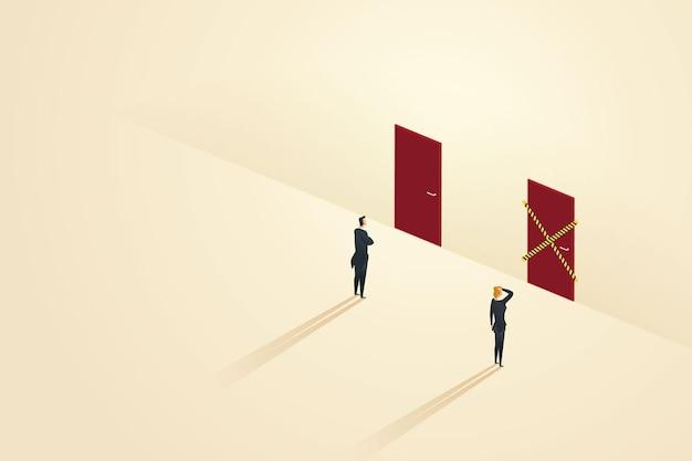 Неравные возможности для бизнеса между бизнесменами и деловыми женщинами
