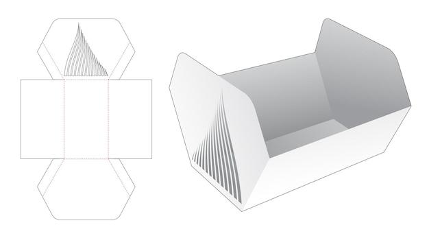 스텐실 곡선 다이 컷 템플릿이있는 동일하지 않은 육각형 트레이